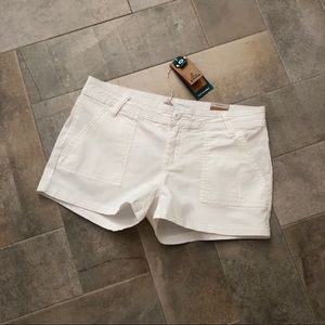 ☀️NEW Prana White Organic Cotton Tess Shorts